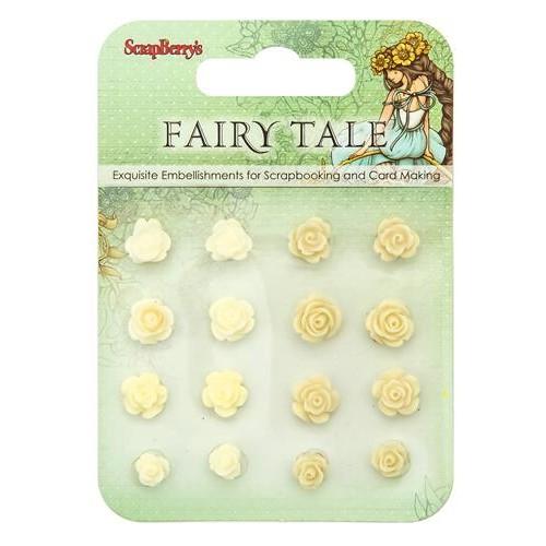 Комплект от резин цветя за залепване - Set of flowers, Fairy Tale 3