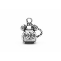 Метална висулка - стар телефон -12 х15мм -  Charms set Retro Phone 12*15mm