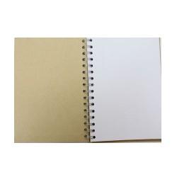 Тефтер със спирала и корици от папие маше за декориране и 40бр. празни листа - 15 х 21.5см - Papier-Mache Note Book (15x21.5cm)
