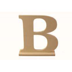 """Дървена буква със стойка """"В""""- Wooden letter * B * 15.5x4x15 см"""