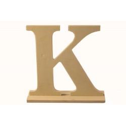 """Дървена буква със стойка """"К""""- Wooden letter * K * 15.5x4x15см"""
