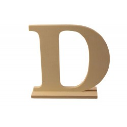 """Дървена буква със стойка """"В""""- Wooden letter """"D"""" 15 х 4 х 15см"""