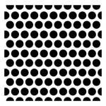 Текстурен стенсил за микс медиа - големи точки - Stencil Dotted pattern 15,2*15,2cm thickness 0,31mm