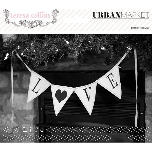 10бр. ацетатни декоративни плаки за снимки - Urban Market Photo Overlays (10 pieces per pack)