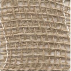 Натурална юта / зебло 5см - Juteband natural gestijfd - 1 метър