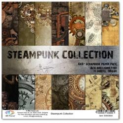 Комплект дизайнерски картони 6x6inch 14 листа 190gr - Steampunk Collection