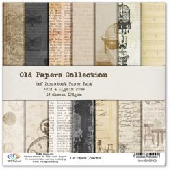 Комплект дизайнерски картони 6x6inch 14 листа 190gr - Old Papers Collection