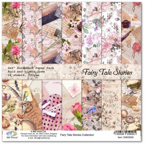 Комплект дизайнерски картони 6x6inch 14 листа 190gr - Fairy Tale Stories Collection