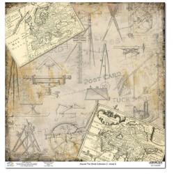 Дизайнерски картон 12x12inch 190gr - Around The World Collection 2 - No.8