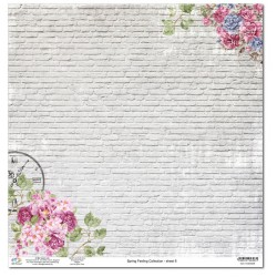 Дизайнерски картон 12x12inch 190gr - Spring Feeling Collection - No.8