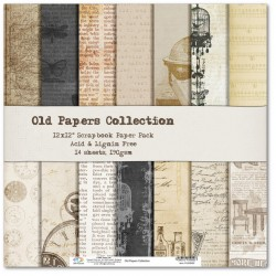 Комплект дизайнерски картони 12x12inch 14 листа 190gr - Old Papers Collection