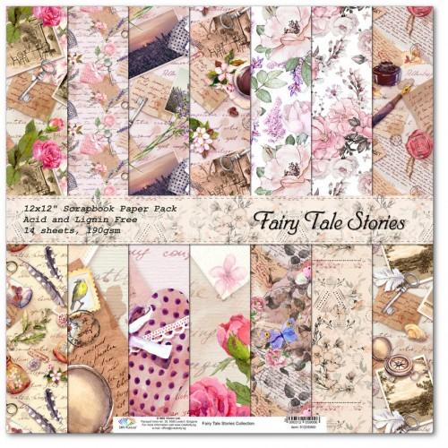 Комплект дизайнерски картони 12x12inch 14 листа 190gr - Fairy Tale Stories Collection