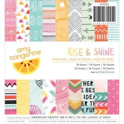 К-т. дизайнерски картони 6x6inch 36 листа - Rise and Shine