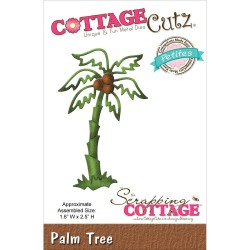 Универсален шаблон за изрязване и релеф палма - CottageCutz Petites Die - Palm Tree