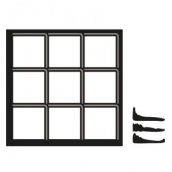 Универсални шаблони за изрязване и релеф заскрежен прозорец 3бр - Craftables - Snowy Window