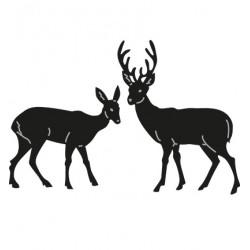 Универсални шаблони за изрязване и релеф 2 бр кошута и елен - Craftables - Tinys Deer
