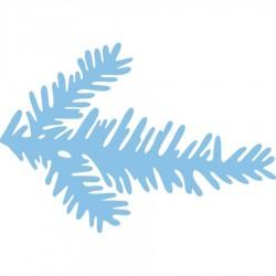 Универсален шаблон за изрязване и релеф елхово клонче - Creatable - Branch of fir