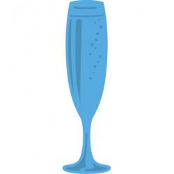 Универсален шаблон за изрязване и релеф чаша шампанско - Creatables Champagne