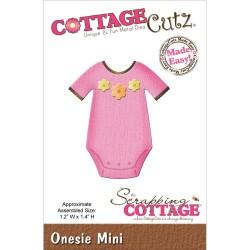 Универсални шаблони за изрязване и релеф бебешко боди - CottageCutz Mini Die - Onesie