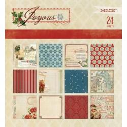 К-т дизайнерски картони 6x6inch 24 листа - Joyous