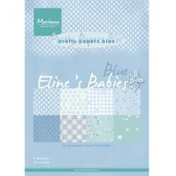 К-т дизайнерски хартии A4 16 листа - Elines baby boy