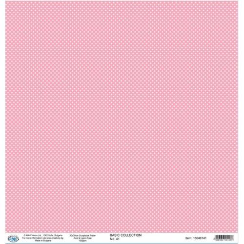 Дизайнерски картон 30x30cm 190gr - BASIC COLLECTION 41