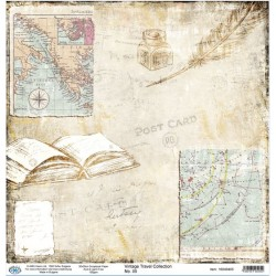 Дизайнерски картон 30x30cm 190gr - Vintage Travel Collection 05