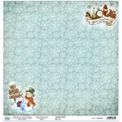 Дизайнерски картон 30x30cm 190gr - Joyeux Noel 04