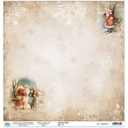Дизайнерски картон 30x30cm 190gr - Joyeux Noel 14