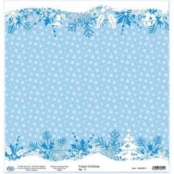 Дизайнерски картон със снежинки - 30x30cm 190gr - Frozen Christmas 11