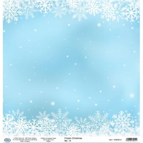 Дизайнерски картон 30x30cm 190gr - Frozen Christmas 14
