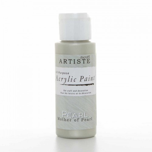 Акрилна боя - перлена - Docrafts Acrylic Paint (2oz) - Mother Of Pearl (DOA 763002)