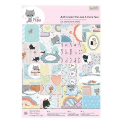 A4 Ultimate Die-cut and Paper Pack (48листа) - Little Meow