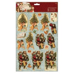 A4 3D Decoupage Pack - Victorian Christmas - Trees