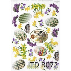 Оризова хартия за декупаж - A4 25gr - ITD Collection R072