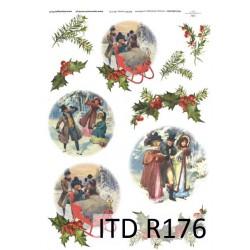 Оризова хартия за декупаж - A4 25gr - ITD Collection R176