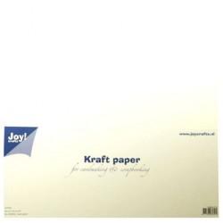 Бял крафт картон 12x12inch, 300gr - White - 20бр.