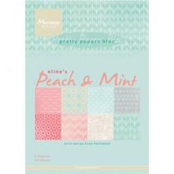 Дизайнерско блокче - Marianne Design - Papier Blok Eline's Peach & Mint