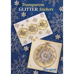 Книжка с упътвания за картички - Starform - Boekje, Transparant Glitter Stickers - 24стр.