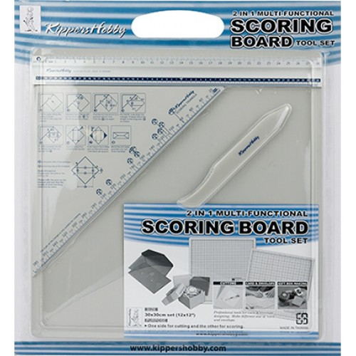 Мултифункционална дъска за рязане и биговане 2 в 1 - 30 х 30 см - Kippers Hobby - Scoring board