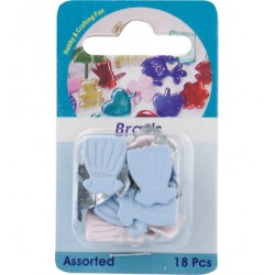 Брадс - Hobby Crafting Fun - Brads, dress, assorted colour - 18бр.