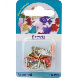 Брадс - Hobby Crafting Fun - Brads, glove, assorted colour, 18 pcs