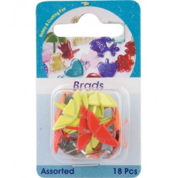 Брадс - Hobby Crafting Fun - Brads, umbrella, assorted colour, 18 pcs