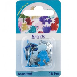 Брадс риби - Hobby Crafting Fun - Brads, fish, assorted colour - 18 бр.