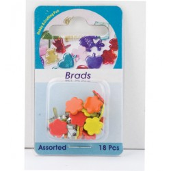 Брадс - Hobby Crafting Fun - Brads, flower, assorted colour - 18бр.