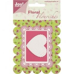 Шаблон за рязане и релеф - Joy Crafts - флорално сърце