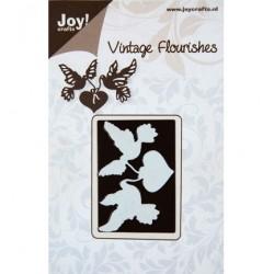 Шаблон за рязане и релеф - Joy Crafts - Vintage Flourishes Hart+2duiven