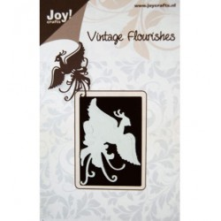 Шаблон за рязане и релеф - Joy Crafts - Vintage Flourishes-Pauw vliegend - жерав