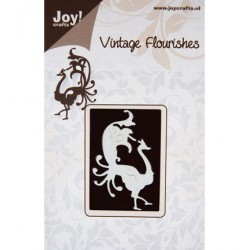 Шаблон за рязане и релеф - Joy Crafts - Vintage Flourishes-Pauw lopend