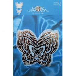 Тънки метални щанци за рязане и релеф - Joy Crafts - Lin & Lene Stencil set 3 пеперуди